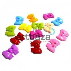 """Набор пластиковых декоративных пуговиц """"Бантики"""", 1.4 x 1 см., 15 штук, REGINA"""