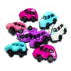 """Набор пластиковых декоративных пуговиц """"Машинки"""", 2.5 x 1.3 см., 8 штук, REGINA"""