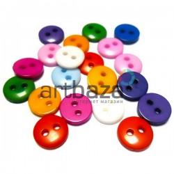 Набор пластиковых декоративных пуговиц, Ø0.8 см., 20 штук, REGINA