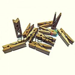 Набор неокрашенных деревянных декоративных прищепок, 3.5 см., 10 штук, REGINA