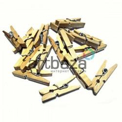 Набор неокрашенных деревянных декоративных прищепок, 2.5 см., 15 штук, REGINA