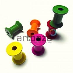 Набор цветных деревянных декоративных катушек для ниток, Ø2.3 x 2.8 см., 2 штуки, REGINA
