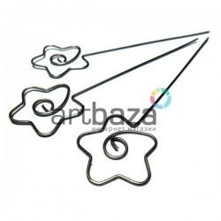 """Набор металлических держателей для фото """"Звезда"""", 13 см., 3 штуки, REGINA"""