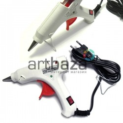 Термопистолет с кнопкой включения Hot Melt Glue Gun, 20W, 110V-240V, 50Hz/60Hz, Ø7-8 мм., HELI
