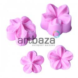 Силиконовый молд 3D (вайнер), лепестки цветка 2 части, Ø3.3 см., толщина 2.7 см., REGINA