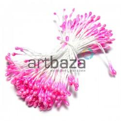 Тычинки для цветов двухсторонние, розовые, Ø2 мм., длина 6 см., REGINA