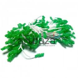 Тычинки для цветов (пестик) двусторонние, зеленые, размер 10 мм., длина 6 см., REGINA