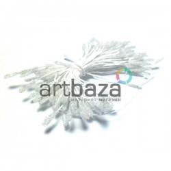 Тычинки для цветов (пестик) двусторонние, белые, размер 10 мм., длина 6 см., REGINA