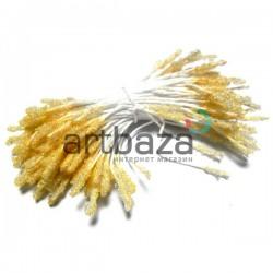 Тычинки для цветов (пестик) двусторонние, телесные, размер 10 мм., длина 6 см., REGINA