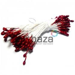 Тычинки для цветов двусторонние, красные, размер Ø2 мм., длина 6 см., REGINA