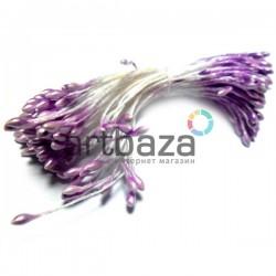 Тычинки для цветов двусторонние, сиреневые, размер Ø2 мм., длина 6 см., REGINA