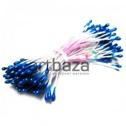 Тычинки для цветов двусторонние, синие, размер Ø2 мм., длина 6 см., REGINA