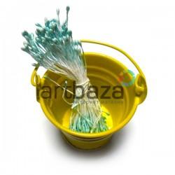 Тычинки для цветов двусторонние, аквамариновые, размер Ø2 мм., длина 6 см., REGINA