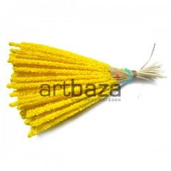 Набор декоративных стеблей, желтые, 13 - 15 см., 100 штук, REGINA