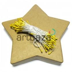 Тычинки для цветов двусторонние, желтые, размер Ø2 мм., длина 6 см., REGINA