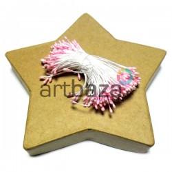Тычинки для цветов двусторонние, бледно-розовые, размер Ø2 мм., длина 6 см., REGINA