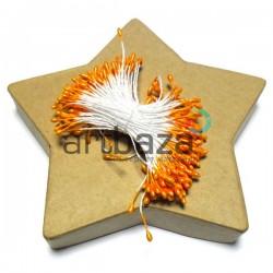 Тычинки для цветов двусторонние, оранжевые, размер Ø2 мм., длина 6 см., REGINA
