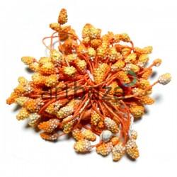 Тычинки для цветов (гроздь) двусторонние, оранжевые, размер Ø6 мм., длина 6 см., REGINA