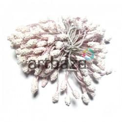 Тычинки для цветов (гроздь) двусторонние, пастельные розовые, размер Ø6 мм., длина 6 см., REGINA