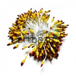 Тычинки для цветов двусторонние двухцветные, жёлто - красные, размер 3 мм., длина 6 см., REGINA