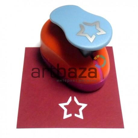 Дырокол фигурный (компостер), звезда, 2.5 см., Kamei