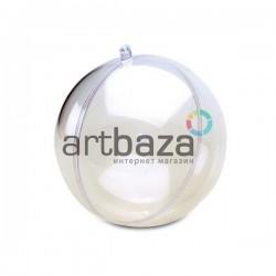 """Фигурка """"Шар"""" прозрачная акриловая разъёмная, Ø14.6 см. / Пластиковые шары для декупажа и декорирования"""