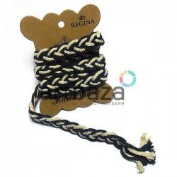Тесьма декоративная Косичка морская, толщина - 1.5 см., длина - 1 м., REGINA