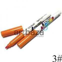 Маркер по ткани оранжевый темный, Soundy