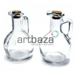 Стеклянный кувшин для жидкости с корковой пробкой (диаметр горлышка 2 см., высота 11.5 см.), REGINA