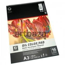 Альбом бумаги для масляных работ на спирали, 297 x 420 мм., 190 гр./м²., 16 листов, Art Nation