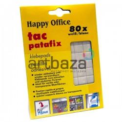 Клеящие подушечки многоразовые Tac Patafix для временного крепления, 80 штук, Happy Office