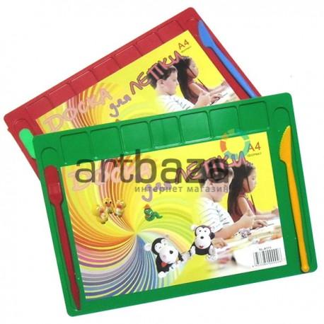Доска для лепки пластилином с двумя стеками, А4, 7 ячеек купить в интернет магазине по доступной цене