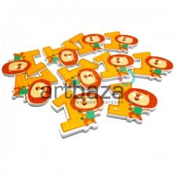 """Набор деревянных декоративных пуговиц """"Цифра 1"""", 2.8 x 3 см., 10 штук, REGINA"""