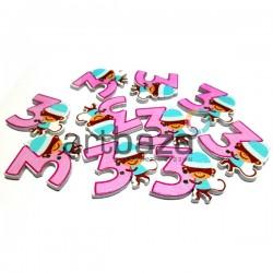 """Набор деревянных декоративных пуговиц """"Цифра 3"""", 2.6 x 3 см., 10 штук, REGINA"""
