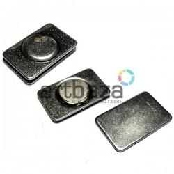 Магнит из двух частей для бейджей и поделок, 2 см. x 1.3 см.