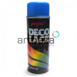 Аэрозольная краска - лак, Fluoresc. Blau / Синий флуоресцентный, 400 мл., Deco Lack Perfect