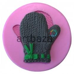 Силиконовый молд 3D (вайнер), рукавичка, размер 7.8 х 6.5 см., толщина 1.5 см., REGINA