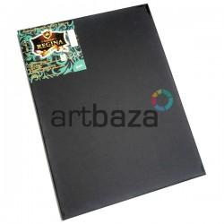 Холст на подрамнике для живописи мелкозернистый, грунтованный черным грунтом, р-р: 40x50 см., хлопок, REGINA (Украина)