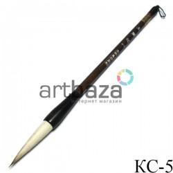 """Кисть для китайской каллиграфии и живописи с двойным ворсом, """"Головка чеснока"""", 28 см."""