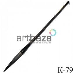 """Кисть для китайской каллиграфии и живописи с бамбуковой ручкой, """"Черная орхидея"""", 42.5 см."""