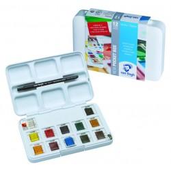 Набор художественных акварельных красок, 12 цветов + кисть + палитра, Van Gogh, Royal Talens