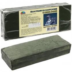 Пластилин скульптурный художественный, оливковый, 0.4 кг., Гамма