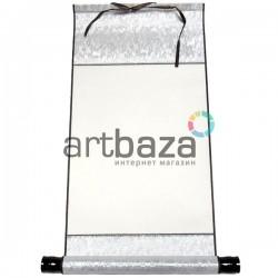 Свиток для китайской каллиграфии и живописи, серебряный шёлк, р-р: 27.3 x 52 см.