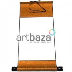 Свиток для китайской каллиграфии и живописи, оранжевый шёлк, р-р: 27.3 x 52 см.