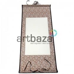 Свиток для китайской каллиграфии и живописи с рисовой бумагой, красные цветы, р-р: 30.5 x 67 см.