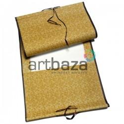 Свиток для китайской каллиграфии и живописи с рисовой бумагой, оранжевые листья, р-р: 39.5 x 108 см.