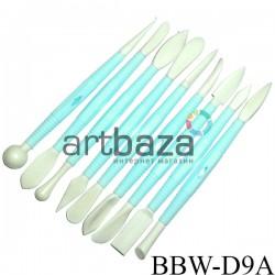 Набор стеков скульптурных пластиковых, двухсторонние, 9 штук