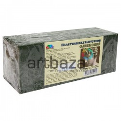 Пластилин скульптурный, оливковый, 800 грамм, Гамма для изготовления скульптур и моделей (331006)