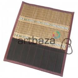 Пенал - коврик для кистей бамбуковый, 31.5 x 36 см., REGINA