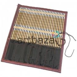 Пенал - коврик для кистей бамбуковый, 26.5 x 30 см., REGINA